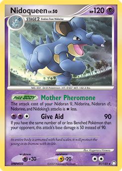 Nidoqueen card for Mysterious Treasures