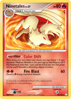 Ninetales card for Mysterious Treasures