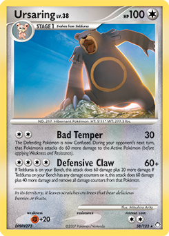 Ursaring card for Mysterious Treasures