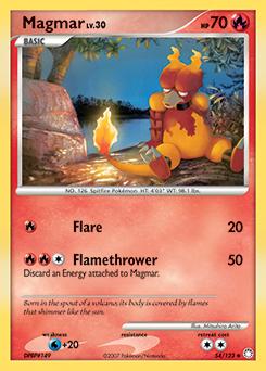 Magmar card for Mysterious Treasures