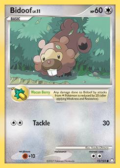 Bidoof card for Mysterious Treasures