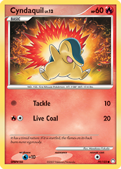 Cyndaquil card for Mysterious Treasures