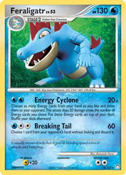 Feraligatr card for Mysterious Treasures