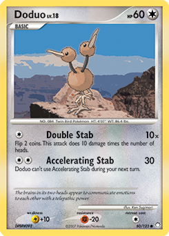 Doduo card for Mysterious Treasures