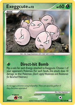 Exeggcute card for Mysterious Treasures