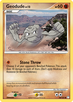 Geodude card for Mysterious Treasures