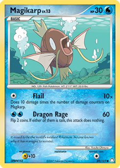 Magikarp card for Mysterious Treasures