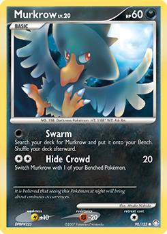 Murkrow card for Mysterious Treasures