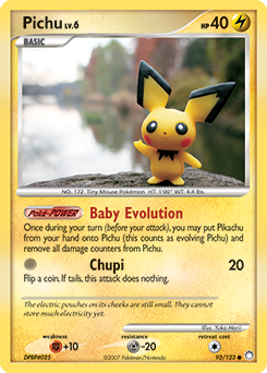 Pichu card for Mysterious Treasures