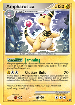 Ampharos card for Secret Wonders