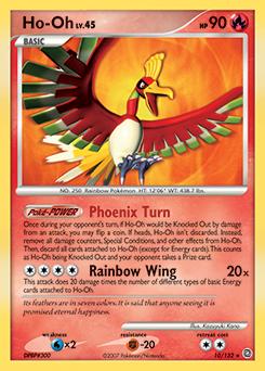 Ho-Oh card for Secret Wonders