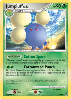 Jumpluff card for Secret Wonders