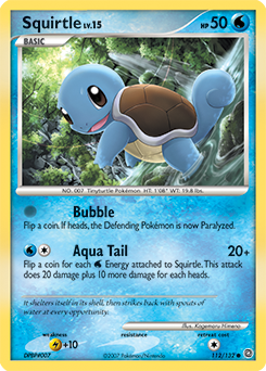 Squirtle card for Secret Wonders