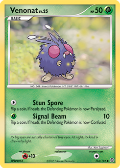 Venonat card for Secret Wonders