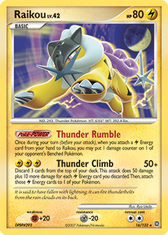 Raikou card for Secret Wonders
