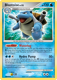 Blastoise card for Secret Wonders