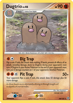 Dugtrio card for Secret Wonders