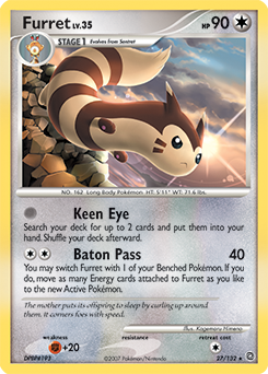 Furret card for Secret Wonders