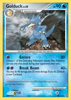 Golduck card for Secret Wonders