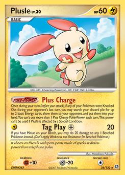 Plusle card for Secret Wonders