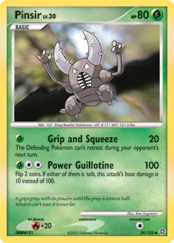 Pinsir card for Secret Wonders