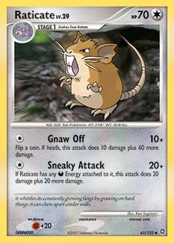 Raticate card for Secret Wonders