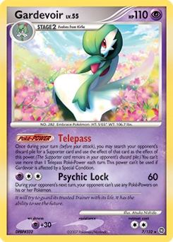 Gardevoir card for Secret Wonders