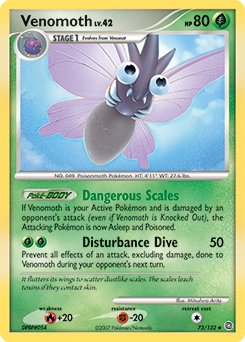 Venomoth card for Secret Wonders