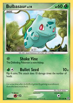 Bulbasaur card for Secret Wonders
