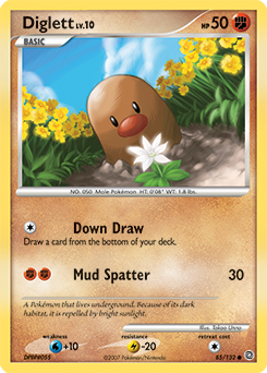 Diglett card for Secret Wonders