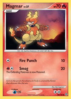 Magmar card for Secret Wonders