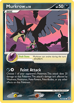 Murkrow card for Secret Wonders
