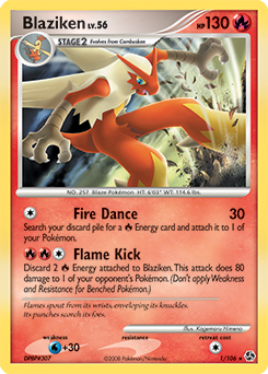 Blaziken card for Great Encounters