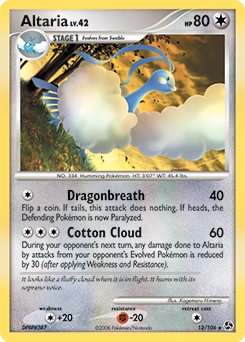 Altaria card for Great Encounters