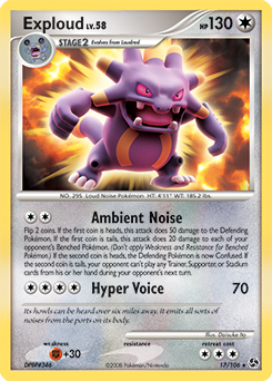 Exploud card for Great Encounters