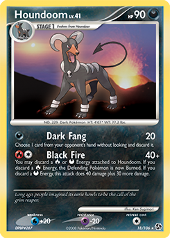 Houndoom card for Great Encounters