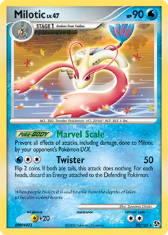 Milotic card for Great Encounters