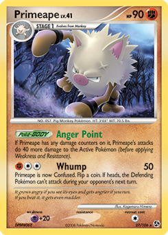 Primeape card for Great Encounters