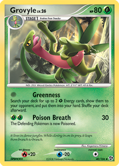 Grovyle card for Great Encounters