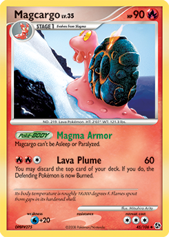Magcargo card for Great Encounters