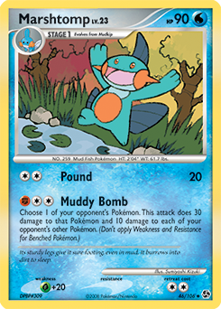 Marshtomp card for Great Encounters
