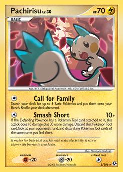 Pachirisu card for Great Encounters