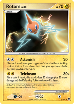 Rotom card for Great Encounters