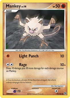 Mankey card for Great Encounters