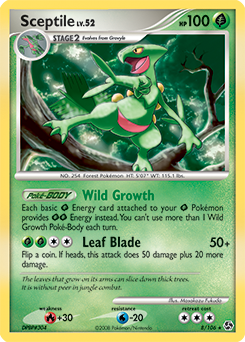 Sceptile card for Great Encounters