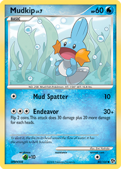 Mudkip card for Great Encounters