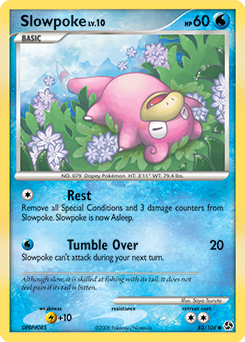 Slowpoke card for Great Encounters