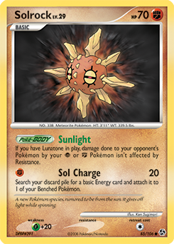 Solrock card for Great Encounters