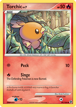 Torchic card for Great Encounters
