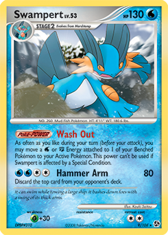 Swampert card for Great Encounters